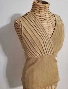NEW! Gold Shimmering Blouse August Silk Knits